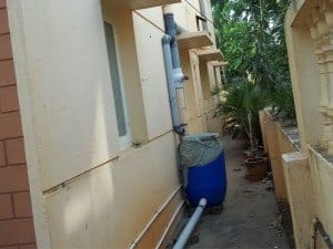 Roof top water harvesting